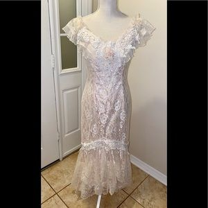 Deadstock Vtg Loralie Original Lace Gown